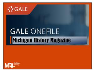 Gale OneFile Michigan History Magazine